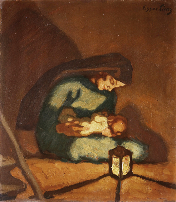 Albin Egger Lienz, Madonna, v.1920-22