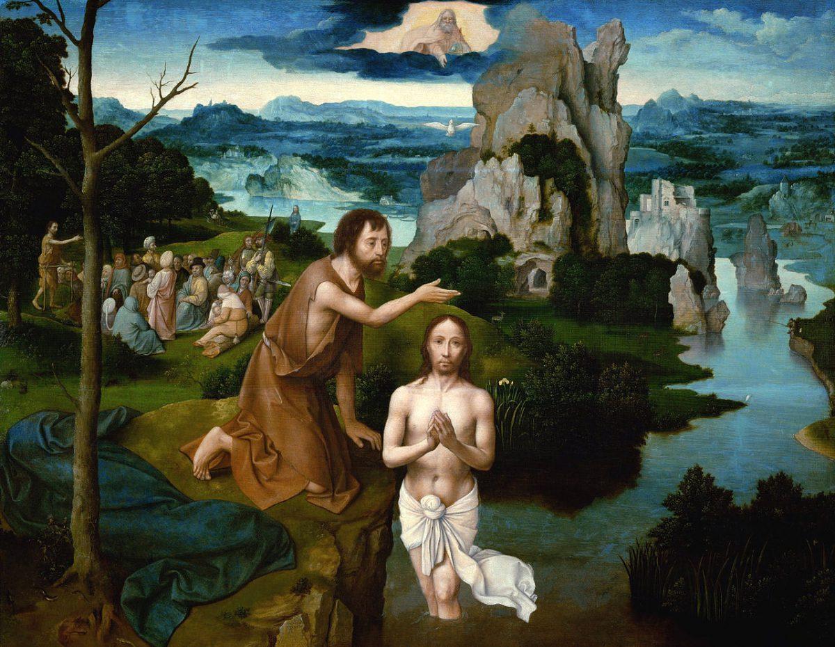 Joachim Patinir, le baptême de Jésus,1510